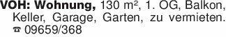 VOH: Wohnung, 130 m², 1. OG, B...