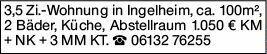 3-Zimmer Mietwohnung in Ingelheim am Rhein (55218)