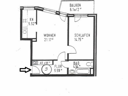 Horn-Lehe, Villacher Straße, 2-Zimmer-Wohnung