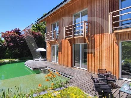 Außergewöhnliches Einfamilienhaus mit Naturpool