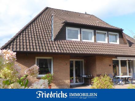 Gepflegtes Wohnhaus mit Garage und eingegrüntem Gartengrundstück mit Terrasse in Edewecht-Portsloge