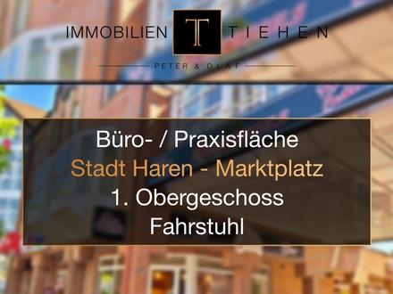 Praxis / Büro - / Gewerbefläche direkt auf dem Harener Marktplatz im 1. Obergeschoss mit Fahrstuhl!