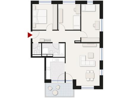 Schöne, hochwertige 4-Zimmer-Wohnung mit Balkon in Neu-Ulm