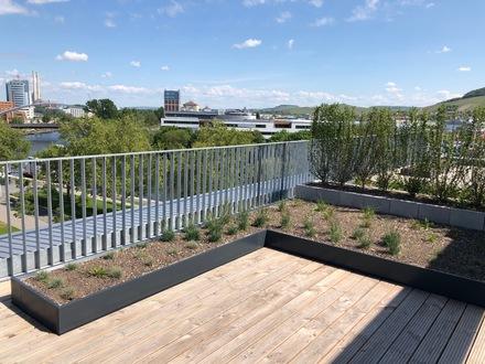 BUGA-Park! Lichtdurchflutete und hochwertig ausgestattete 3,5 Zimmer-Penthouse-Maisonette-Wohnung mit 103 m² Wohnfläche und…