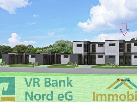 Neubau eines 4-Zimmer-Gartenhofhauses (Haus 4) mit Erd- und Staffelgeschoss im KfW 40 Standard