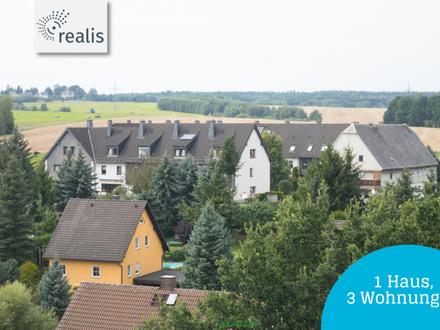 Landhaus zur Anlage mit 3 Einheiten+Sauna+Fernblick+Terrasse+Balkon+Garten+Maisonette