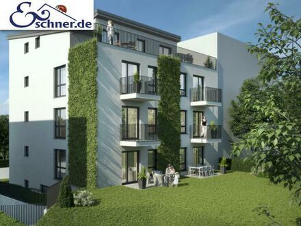 Mit Terrasse und Garten: Schlüsselfertige Neubau-EG-Wohnung in guter Lage von Offenbach-Bieber
