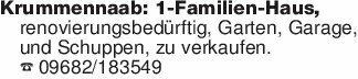 Krummennaab: 1-Familien-Haus,r...