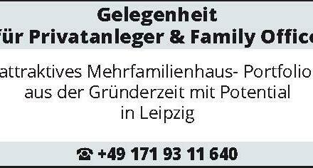 Gelegenheit für Privatanleger & Family Office