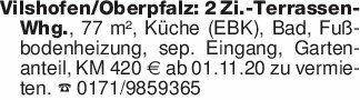 Vilshofen/Oberpfalz: 2 Zi.-Ter...