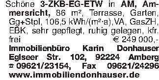 Schöne 3-ZKB-EG-ETW in AM, Amm...
