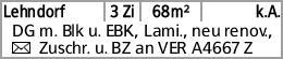 Lehndorf 3 Zi 68m² k.A. DG m. Blk u. EBK, Lami., neu renov., Y Zuschr....
