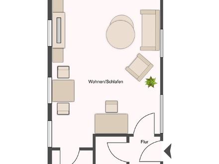 Dachgeschosswohnung für den Singlehaushalt