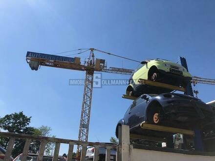 Ehemalige Autoverwertung mit Montage-/Lagerhallen und Wohnhaus