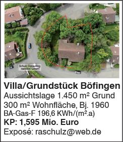 Villa/Grundstück in Ulm Böfingen