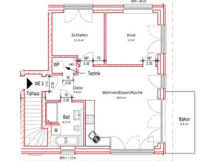 Wohngesunde 3-Zi-Whg. in attraktiver Lage (Erstbezug / provisionsfrei)