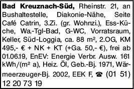 3-Zimmer Mietwohnung in Bad Kreuznach (55543)