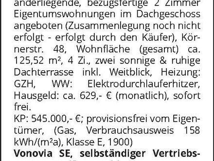 Zwei 2-Zimmer-Wohnungen in Berlin-Niederschönhausen
