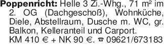 Poppenricht: Helle 3 Zi.-Whg.,...