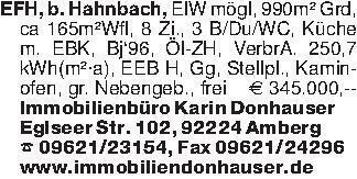 EFH, b. Hahnbach, ElW mögl, 99...