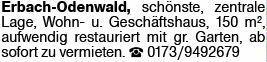 Wohnen in Erbach (64711)