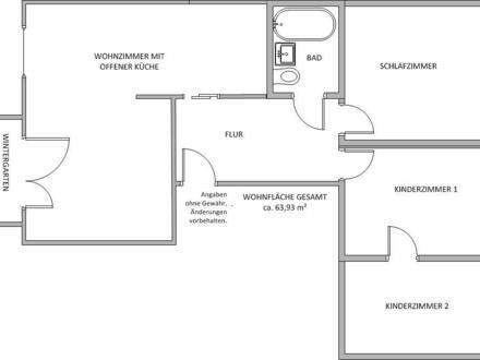 Vier-Raumwohnung im Erdgeschoss frei