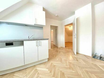 Klagenfurt - Waidmannsdorf: gemütliche, frisch renovierte 2-Zi-Wohnung im Dachgeschoss (2.OG) - *Gartenbenützung möglic…