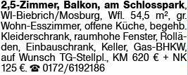 2-Zimmer Mietwohnung in Wiesbaden (65203)