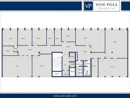 Bielefeld-Mitte: 465 m² Büroetage über den Dächern der Stadt