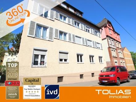 Neue Ideen, alte Werte! Zentral gelegene 3-Zimmer-Wohnung mit Balkon in Stgt-Ost.