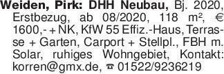 Weiden, Pirk: DHH Neubau, Bj....