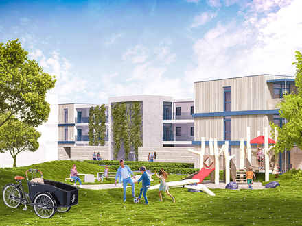 HYGGE: Familien-Wohnung mit großem Garten