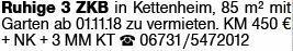 3-Zimmer Mietwohnung in Kettenheim (55234)