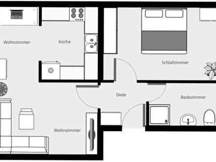 Erstbezug nach Modernisierung: Helle und zentrale 2-Zimmerwohnung in Schwerin