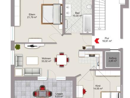 Neubau 3 Zimmer Dachgeschosswohnung in Neuötting