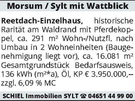 Morsum / Sylt mit Wattblick