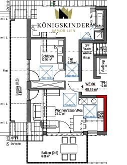 *PROVISIONSFREI* Neubauprojekt: Schicke Dachgeschosswohnung mit Balkon, Loggia, Garten und Tiefgarage in Südhanglage!