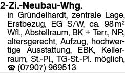 2 Zi. Neubau Whg.
