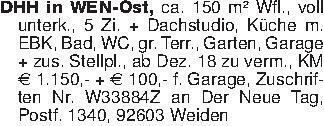DHH in WEN-Ost, ca. 150 m² Wfl...