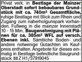 Wohnen in Mainz (55131)