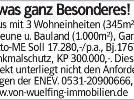 Etwas ganz Besonderes! Haus mit 3 Wohneinheiten (345m²) + Scheune u. Bauland...