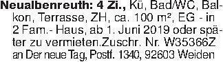 Neualbenreuth: 4 Zi., Kü, Bad/...