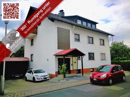 Zentrale 4,5 Zimmer Wohnung mit großzügigem Balkon und Blick ins Grüne in Seeheim