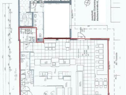 Einzelhandel zwischen Bauhaus und Hornbach - 184m², Ladenlokal oder Büro große Schaufenster-verke...