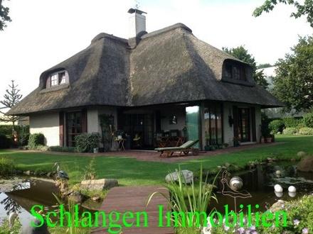 Objekt Nr. 20/904 Exklusives Reetdachhaus mit Gewerbegrundstück in Saterland / OT Bollingen