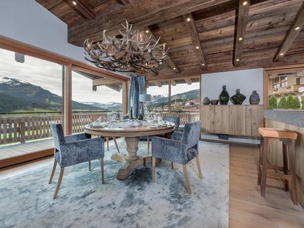 Designer-Penthouse mit Sauna, Personenaufzug und Autolift - in unverbaubarer Panoramalage