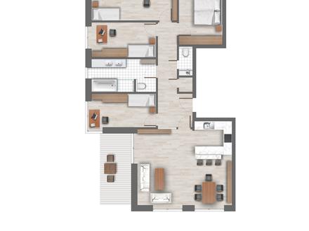 5 Zimmerwohnung mit 121 m² Wohnfläche