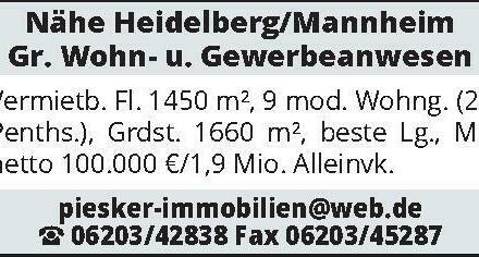 Nähe Heidelberg/Mannheim