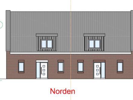 Neubau Doppelhaushälfte (rechts) in zentraler Lage von Sandkrug