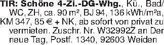 TIR: Schöne 4-Zi.-DG-Whg., Kü....